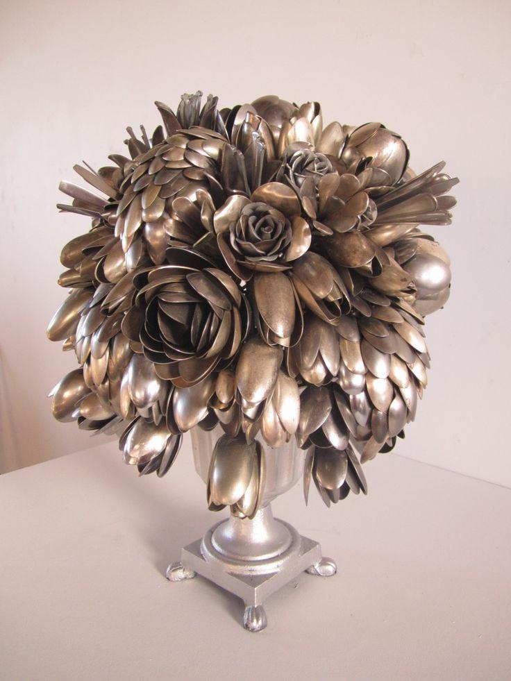 Bosschaert's Blossom - Made of spoons - by Ann Carrington