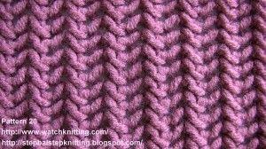 WatchKnitting.com - Lace knitting models-pattern 20 (fish thorn)