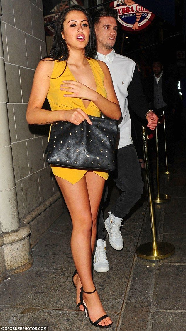 The squad: The couple were joined by a group of pals, including Marnie's Geordie Shore co-...