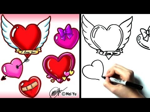 How To Draw A Romantic Heart