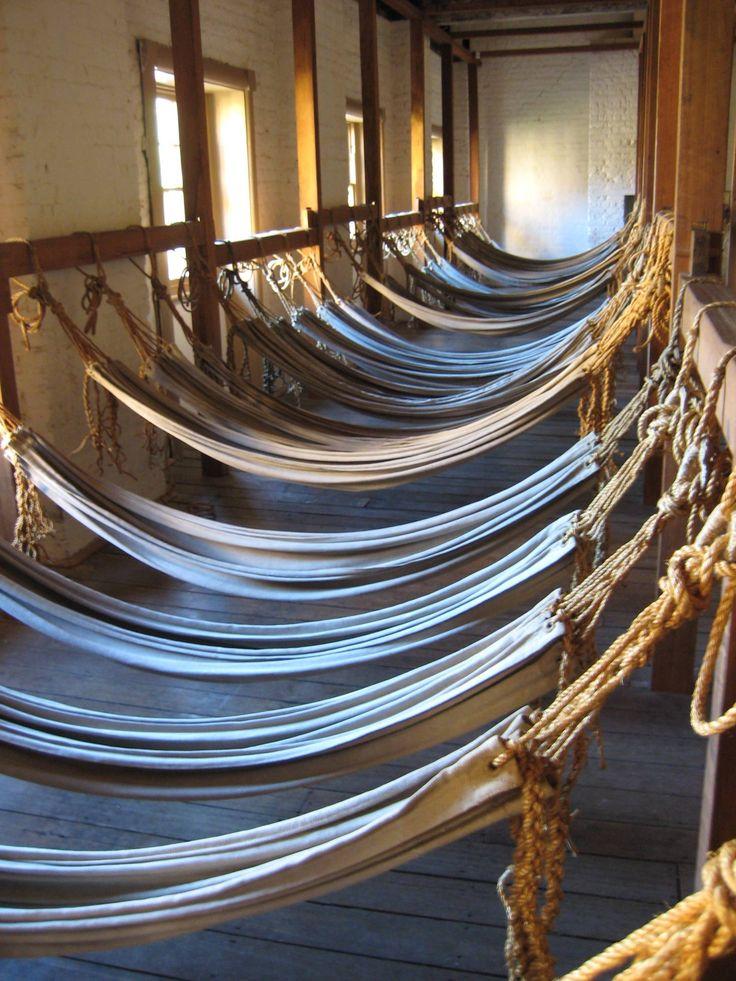 Convict hammocks in Hyde Park Barracks