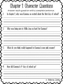 Worksheet Ramona Quimby Age 8 Worksheets 1000 images about ramona on pinterest quimby literature age 8 a comprehensive book study