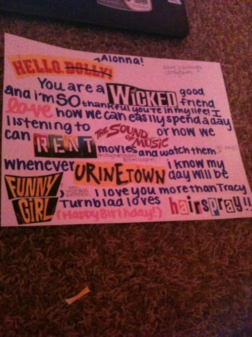 So nice! Wish my friends would do this for me :O | Musical ...