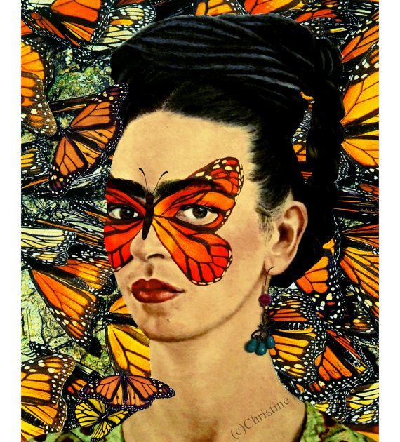 Hey, I found this really awesome Etsy listing at https://www.etsy.com/listing/208350630/frida-kahlo-butterfly-art-print-instant