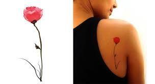 Resultado de imagen para poppy tattoo shoulder