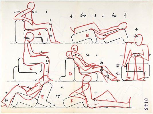 Multi Chair (position Studies: Recto, Seven; Verso, Three) Joe