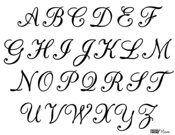 Free Printable Calligraphy Letters Free Printable Alphabet Letters Free Letter Stencils Letter Stencils Printables