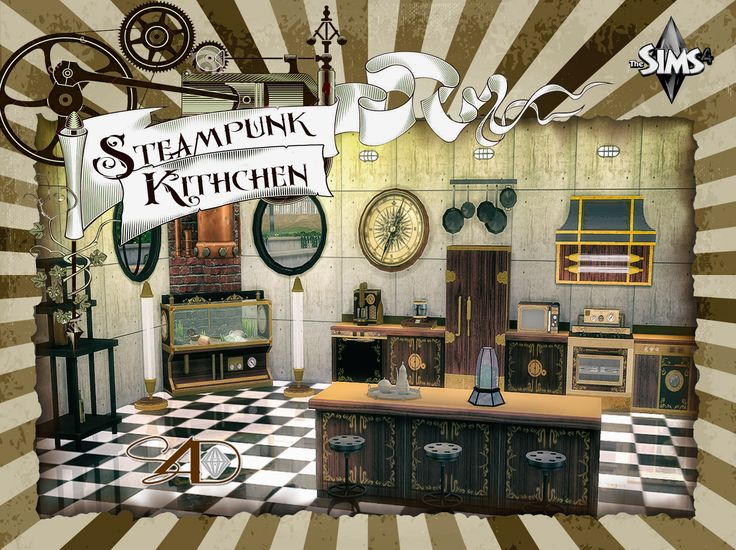 Ts3 to ts4 steampunk kitchen sims 4 designs ts3 to for Sims 3 kitchen ideas