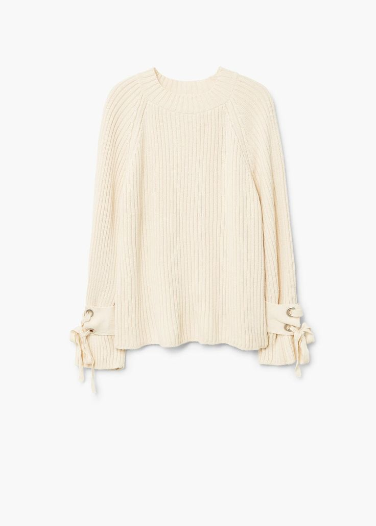 Bow textured sweater | MANGO