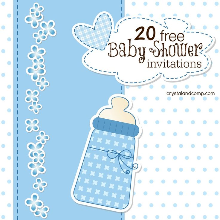 25+ parasta ideaa Pinterestissä Free baby shower invitations - Free Baby Invitation Templates