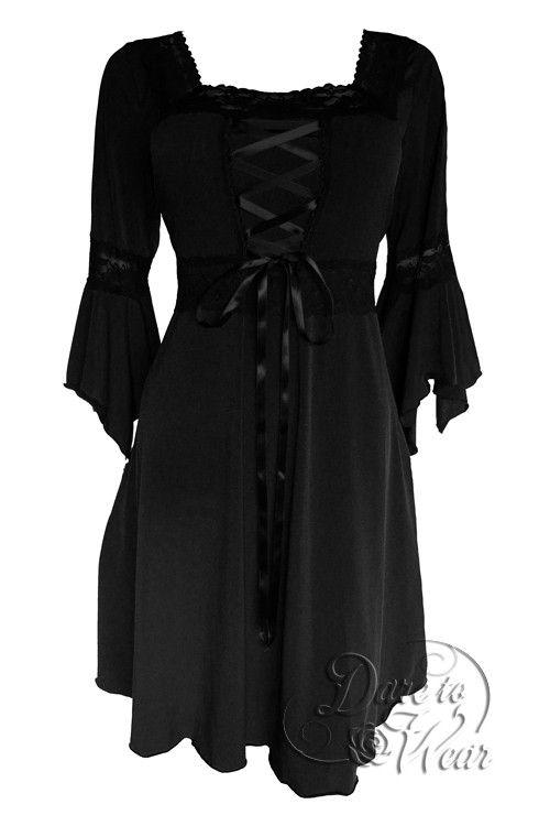 Renaissance Dress in Black