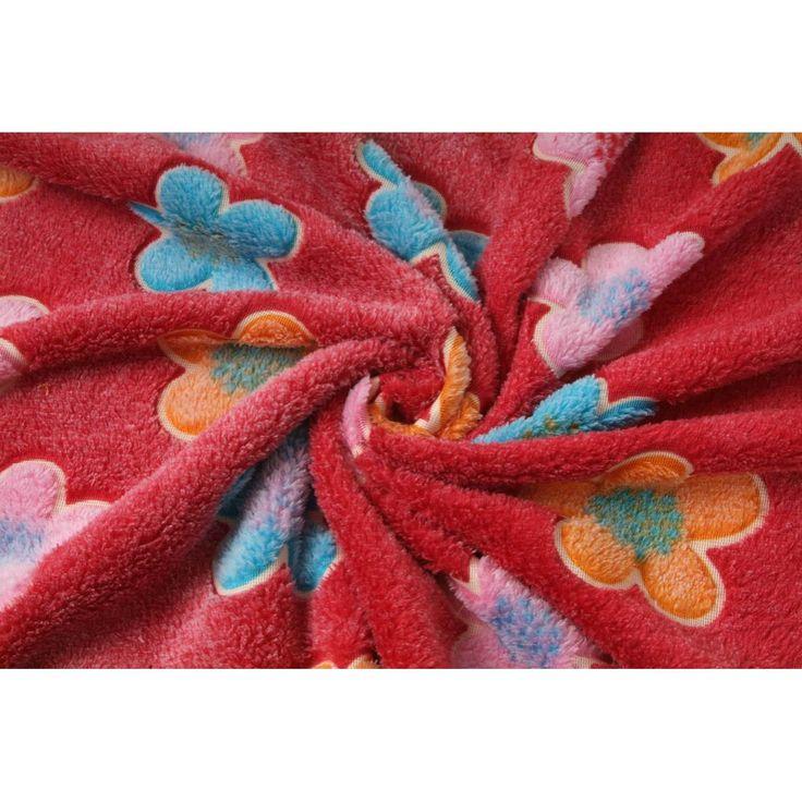 Coral fleece kytička červená