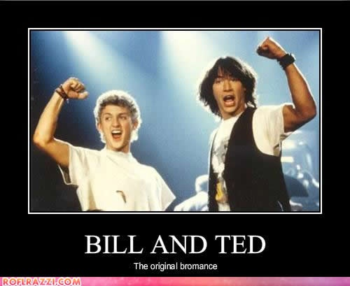 Bill - Alex Winter and Ted - Keanu Reeves, in 'Bill and Ted's Excellent Adventure. They were also in the sequel Bill and Ted's Bogus Journey. I <3 these movies.
