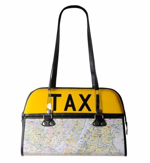be16869889 New York Taxi handbag FREE SHIPPING gift for NYC city map bag ...