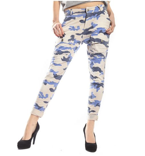 MARYLEY Jeans boyfriend baggy con tasconi Camouflage BEIGE/BLU BUY NOW!: www.ejeans.it/index.php?id_product=1591&controller=product&id_lang=6&search_query=camo&results=3