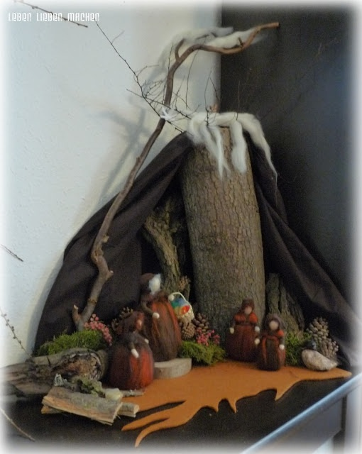 nature table - mother earth and the children of roots