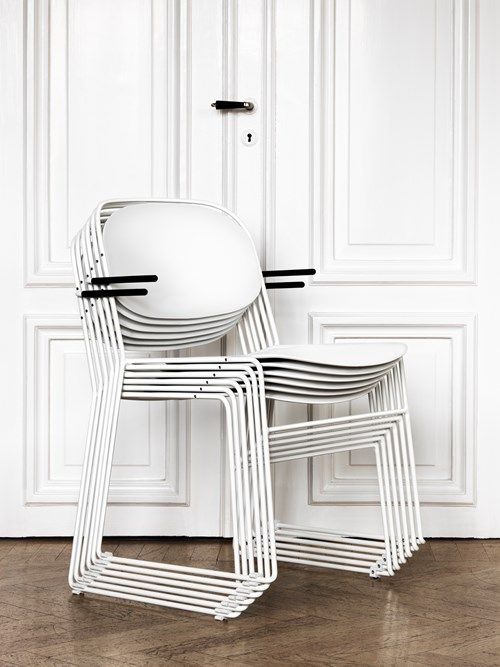 White Chairs, Stackable