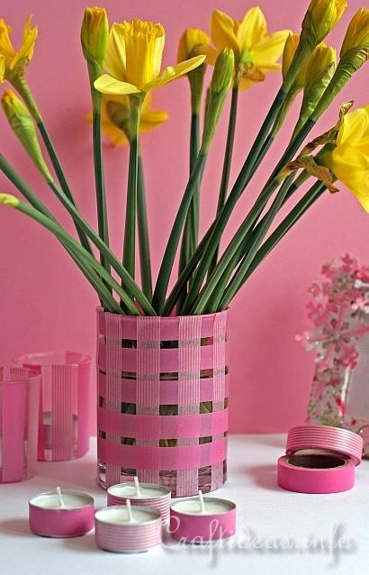 Spring Decorations Using Washi Tape
