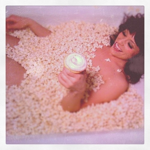 Because who doesn't want to eat cupcakes in a tub of popcorn?