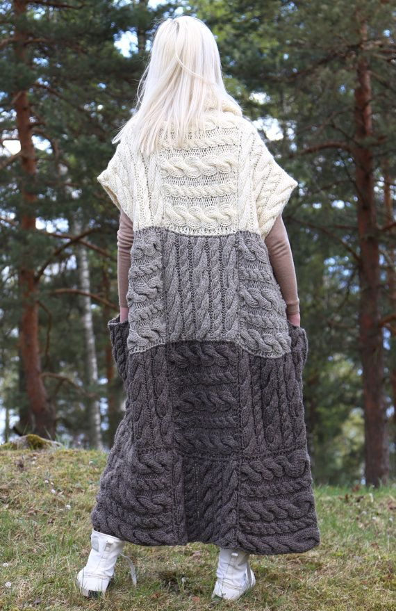 Instant Download PDF pattern. Hand knitted long by IlzeOfNorway