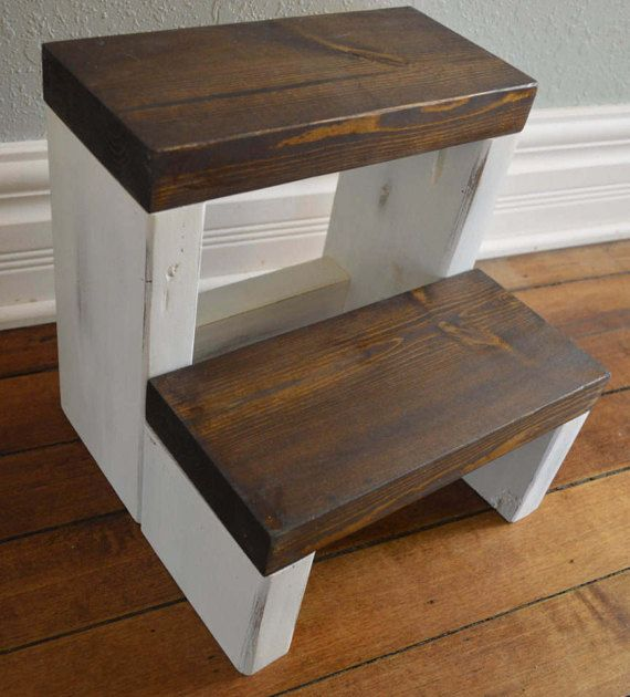 Rustic Step Stool by CarriageHouseCreek on Etsy