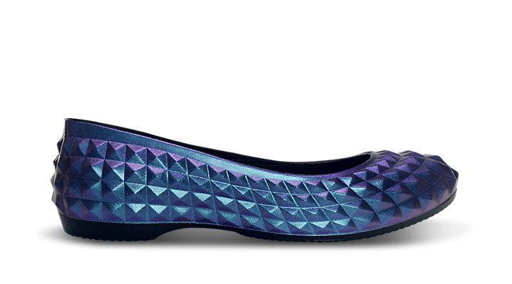 WANT: The Crocs -Super Molded Iridescent Flat