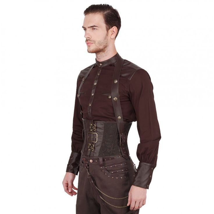 Dieter Corset  Model VG-16426-24  Condition New  Steam-punk fashion is known for its bold look that is made with the concept of alternative history; thus creating a unique style that blends the vintage and futuristic looks. This corset for men takes inspiration off the sub-culture's magnificent concept and creates this classic result!