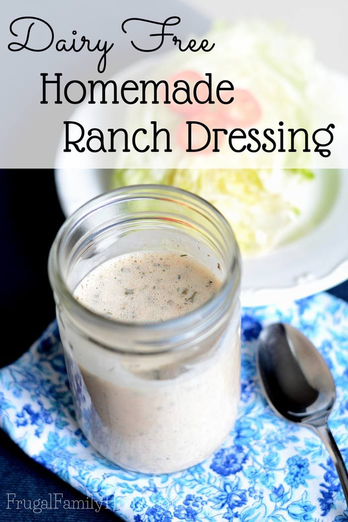 Do you want to get away from the additive in store bought dressing? I know I want to. I made a yummy homemade ranch dressing and it turned out great. Not only does it taste great but  its dairy free too. Although you could use the regular dairy products in it too.
