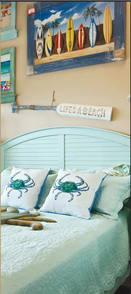 Beachy Bedroom Design                                                                                                                                                     More