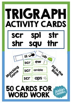 Beginning Trigraph Activity Card Games