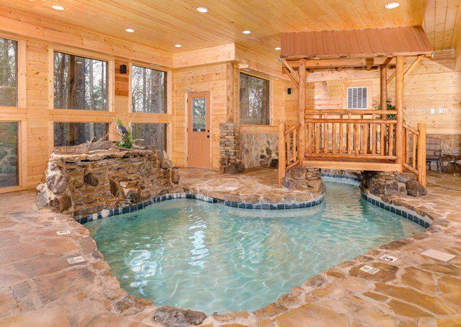 Pigeon Forge Cabin Copper River Indoor Pool Beautiful Cabins Tennessee Cabins Gatlinburg Cabins
