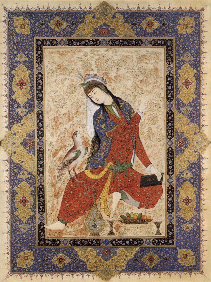 Muraqqa-e Golshan. 1605- 1628. artist Mirza aga emamie. Persia/Iran.