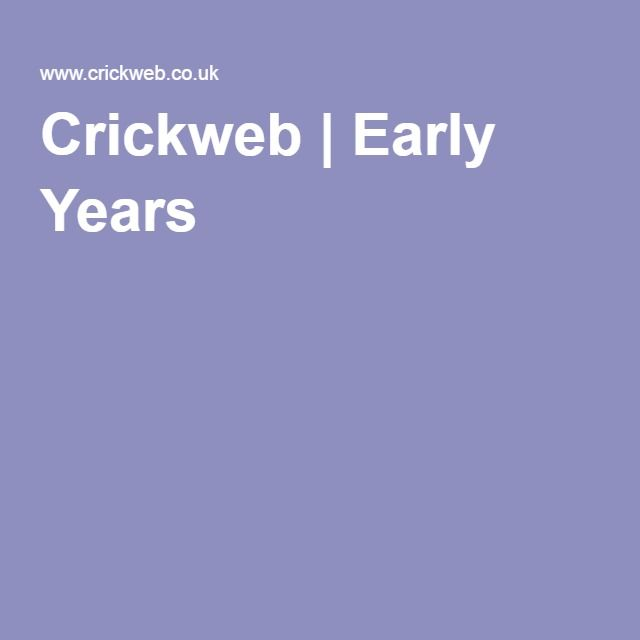 Crickweb | Early Years