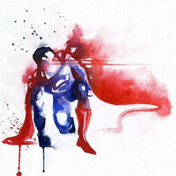 Super-heróis em aquarela!Zupi