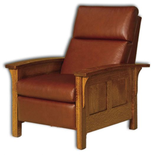 heartland panel recliner chairthe amish heartland recliner features reversed panel sides with mission style with corbels accenting the arm rests