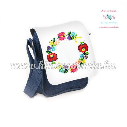 Kézzel hímzett kalocsai mintás táska ,,,http://himzesmania.hu/Kezzel-himzett-kalocsai-mintas-farmer-taska---19x17x6cm