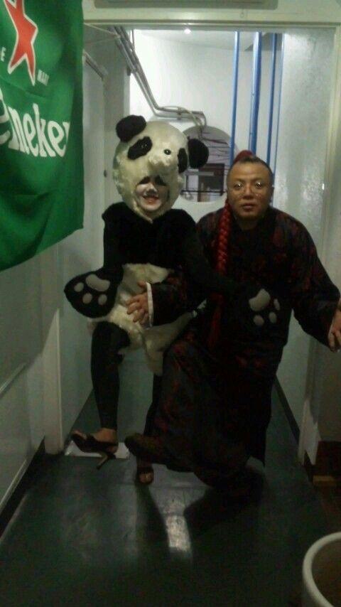 パンダと中国の人