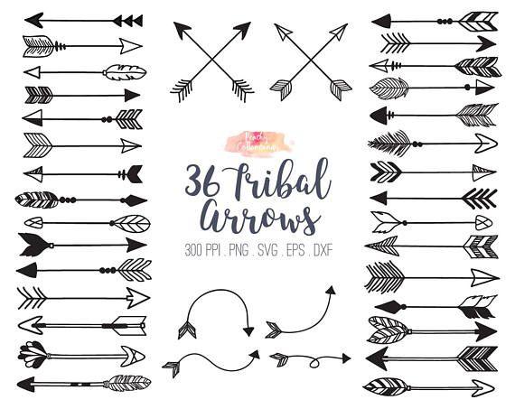 Buy 3 Get 30 Off 36 Tribal Arrow Svg Dxf Eps Vector Tribal Etsy Arrow Clipart Arrow Svg Tribal Arrows