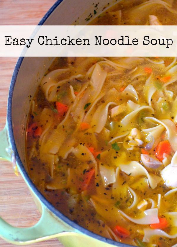 Easy Chicken Noodle Soup - a hearty way to use up leftover roasted, rotisserie, or grilled chicken.