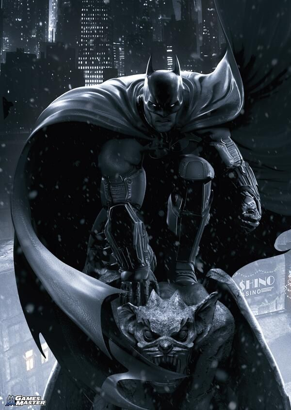 Batman: Arkham Origins Poster, available in Games Master magazine