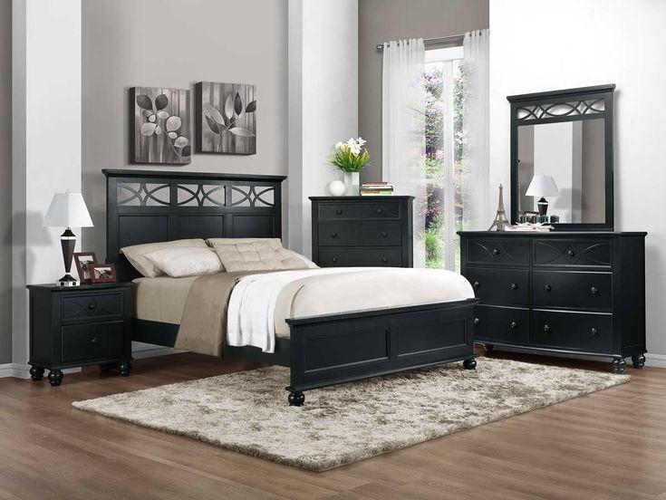 Homelegance 2119BK 1 Sanibel Bedroom Set In Black