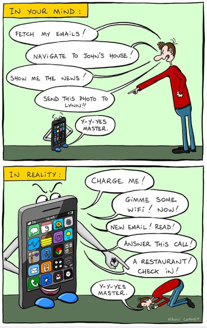 27 Powerful Images That Sum up How Smartphones Are Ruining Our Lives | BlazePress