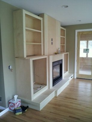 Built-In Fireplace/Entertainment Center | Retro-Tech Construction LLC
