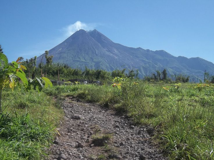 Merapi mountain, Yogyakarta, Indonesia.
