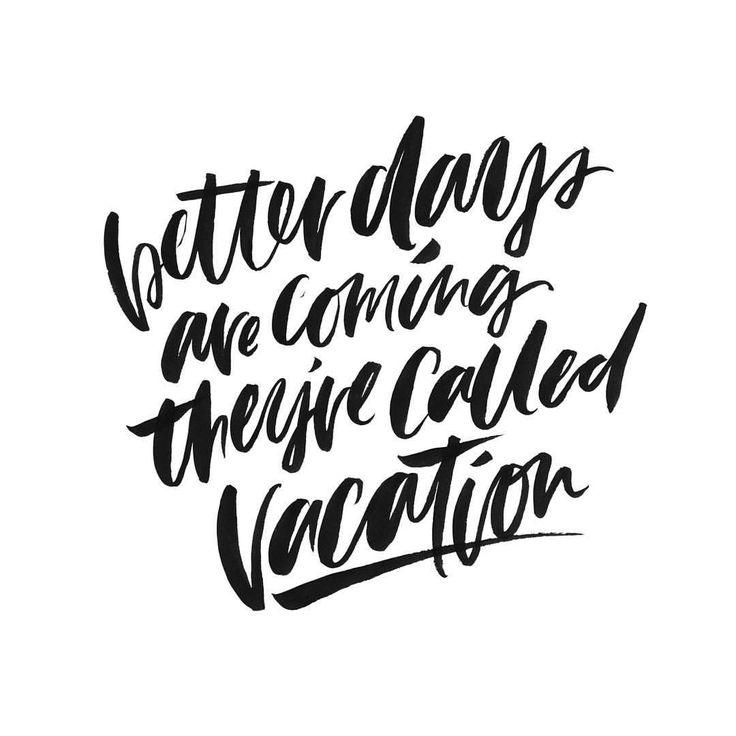 Work hard, vacation hard #handlettered #brushtype #brushlettering #vacation