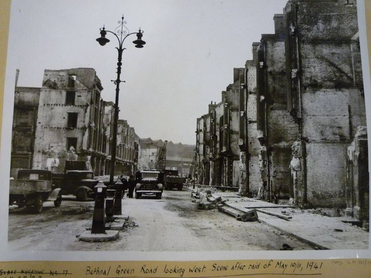 Bethnal Green Road, looking west, scene after raid of May 10/11/1941