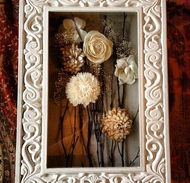 Display bouquet in a shadow box. Via @HomeGoods