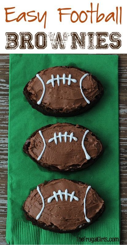 Football Brownie Recipe! These brownies are so EASY to make, crazy delicious, and will be the star of your game day menu!! #MixUpAMoment #sponsored #ad | Recipe at: TheFrugalGirls.com