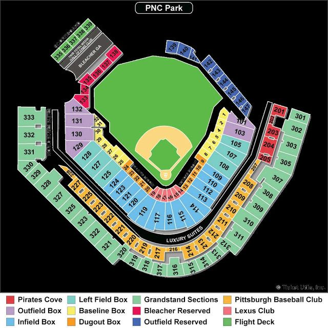 Elegant Pnc Park Seating Chart With Seat Numbers Pnc Park Chart Pittsburgh