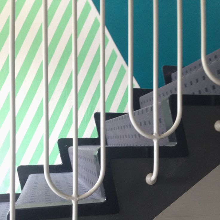 detail from a stairwell I have decorated. -Line Hvass